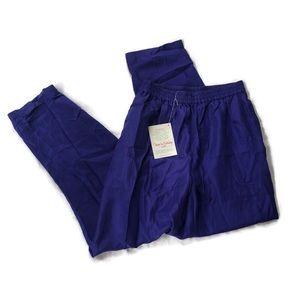 Diane Von Furstenberg DVF Pajama Pants 100% Silk